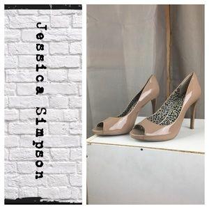 Jessica Simpson open toe Sara pumps